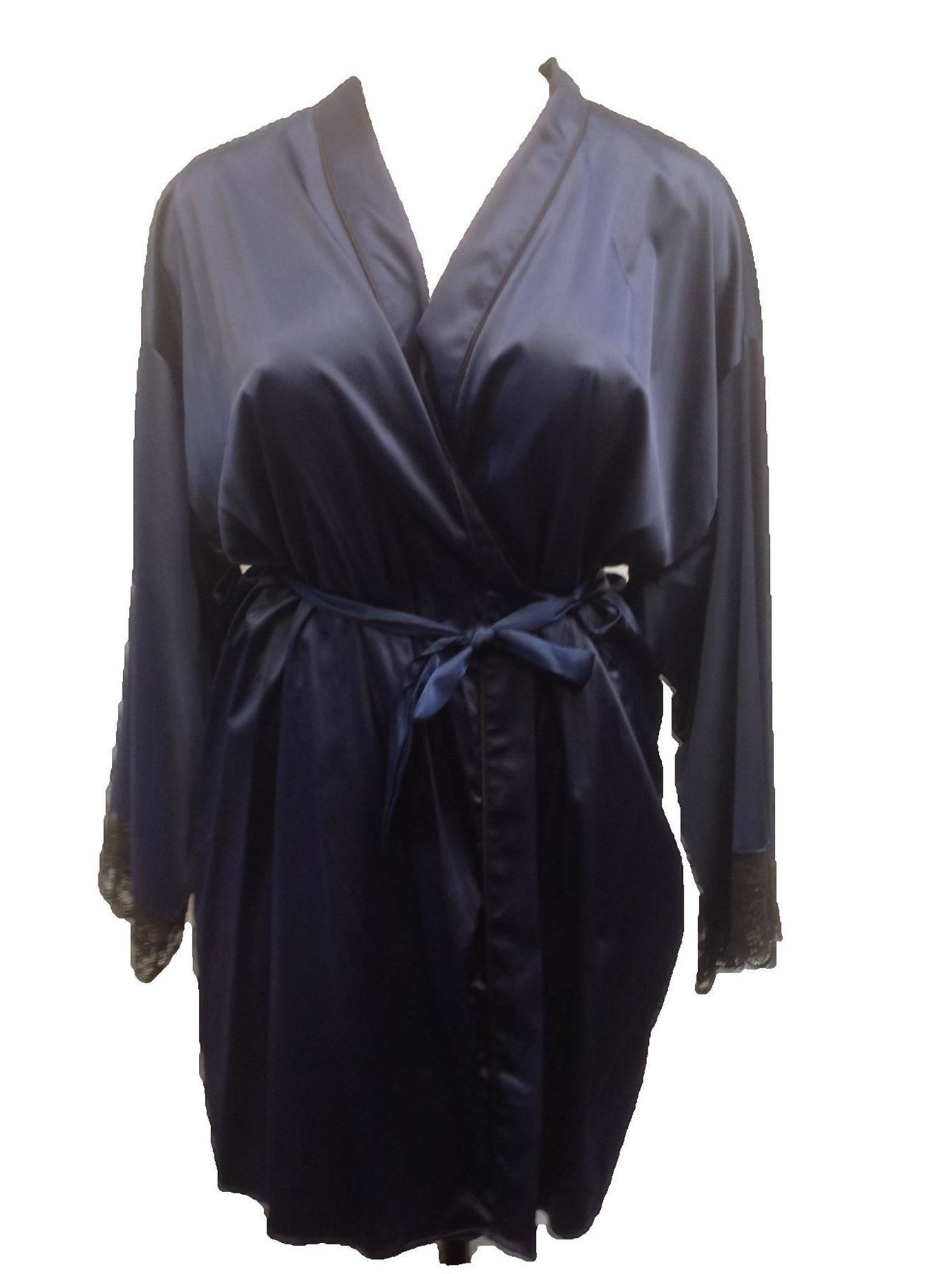 damen seide satin kimono morgenrock wickel morgenmantel bademantel ebay. Black Bedroom Furniture Sets. Home Design Ideas