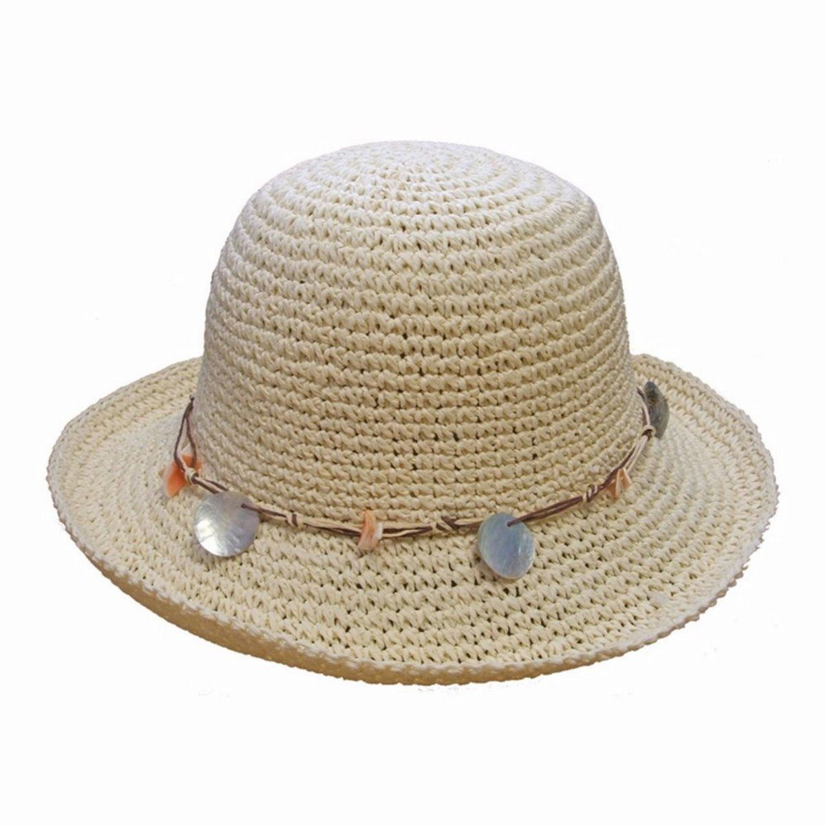 floppy straw hat crushable packable summer sun
