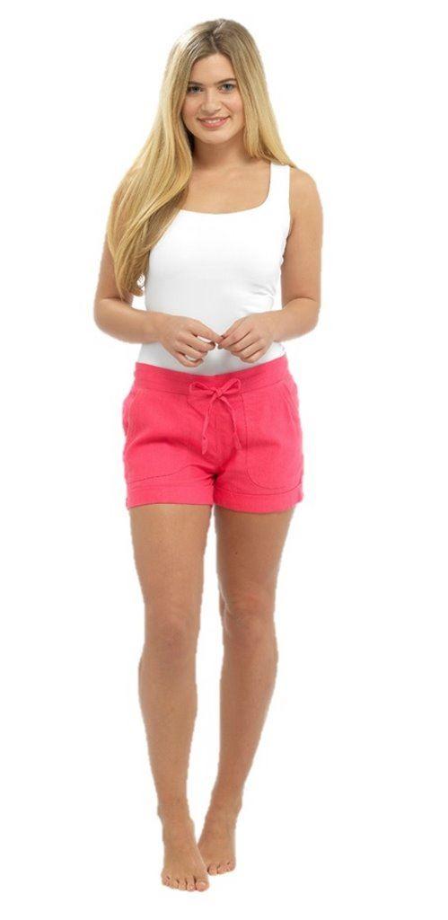 Womens ladies Linen Shorts size 10 12 14 16 18 | eBay
