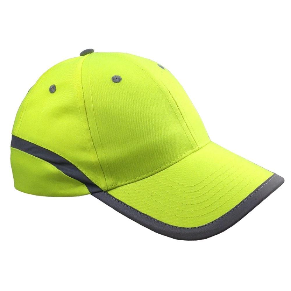 Hi Vis High Viz Basball Cap Hat Peaked Visor Reflective Ebay