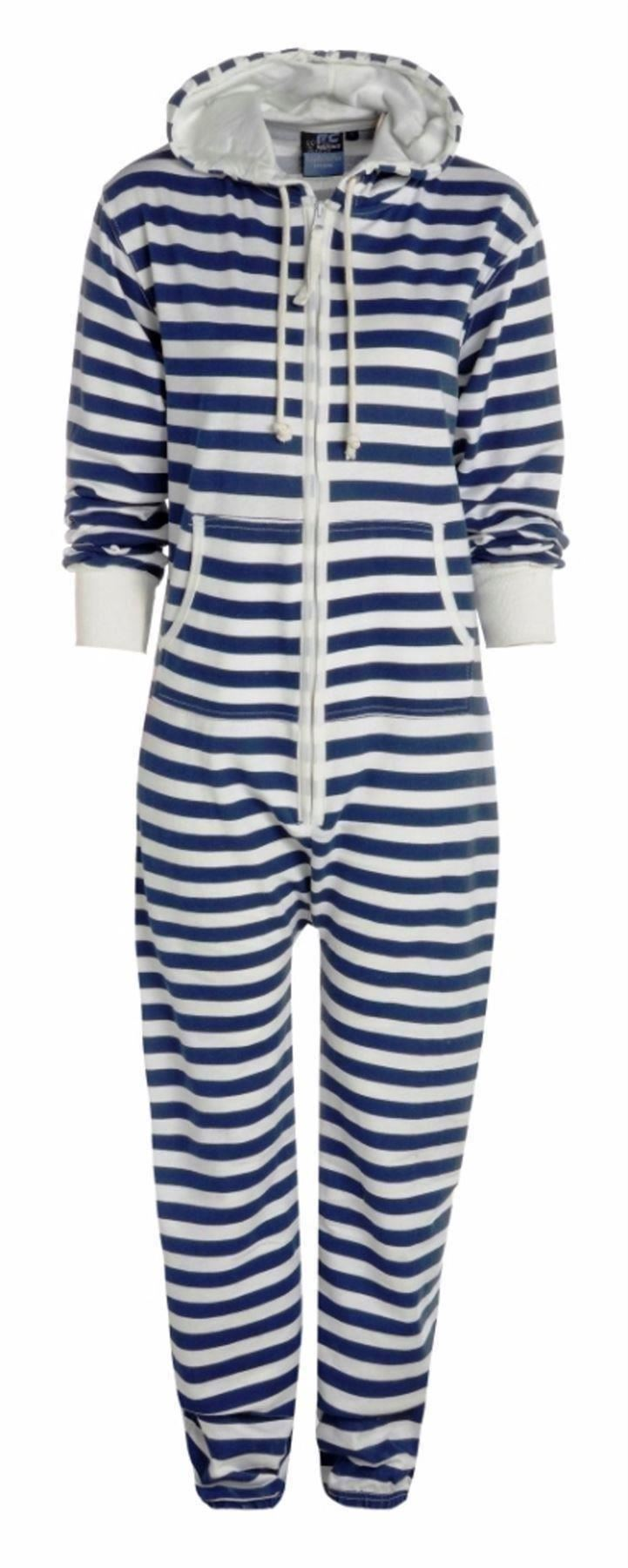 herren damen einteiler onesie overall schlafanzug mit kapuze ebay. Black Bedroom Furniture Sets. Home Design Ideas
