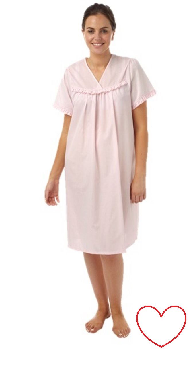 Plus size nightdress nightie night shirt short sleeve for Sleep shirt short sleeve