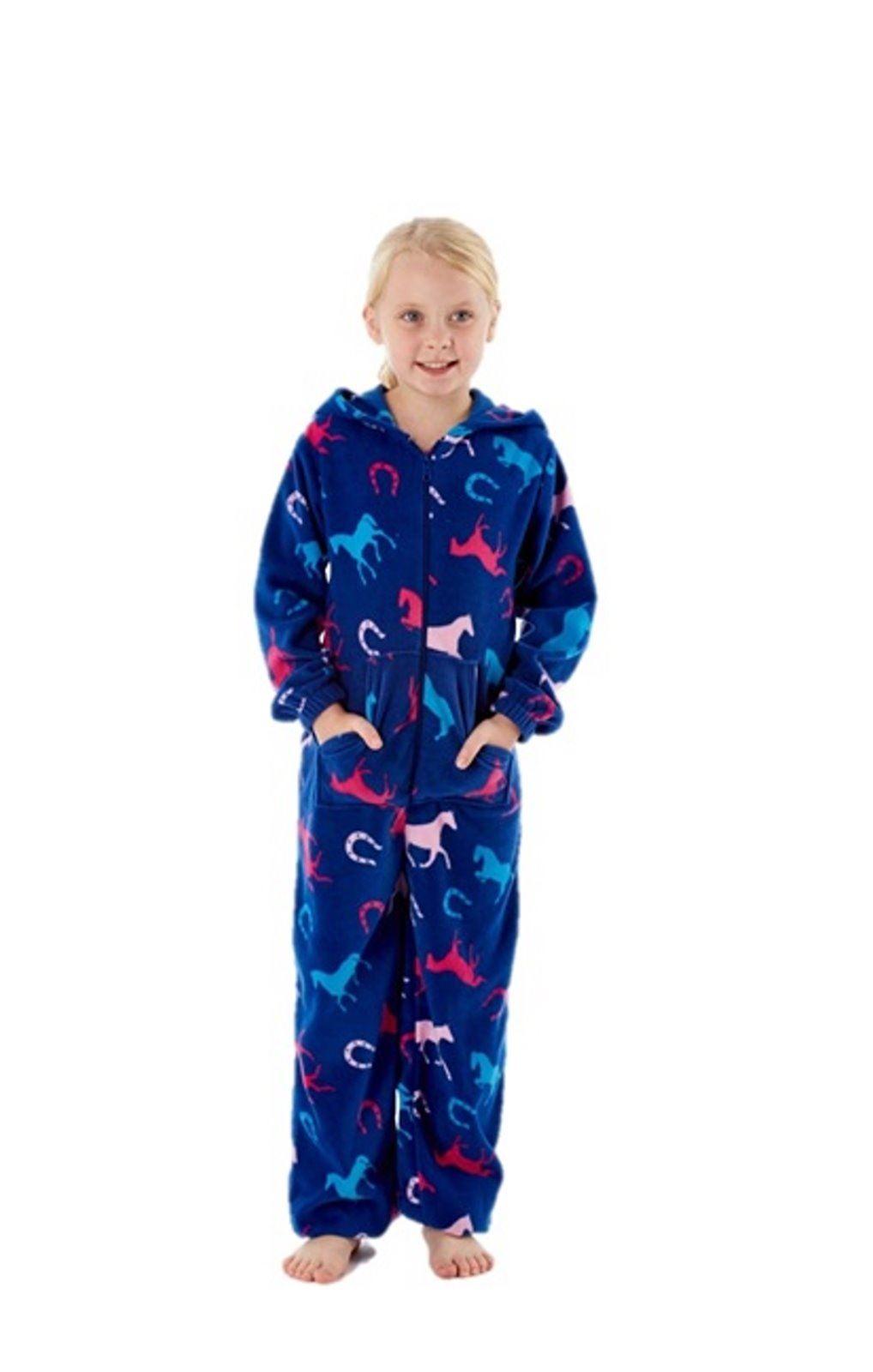 pyjama combinaison capuche polaire cheval fille pyjamas. Black Bedroom Furniture Sets. Home Design Ideas