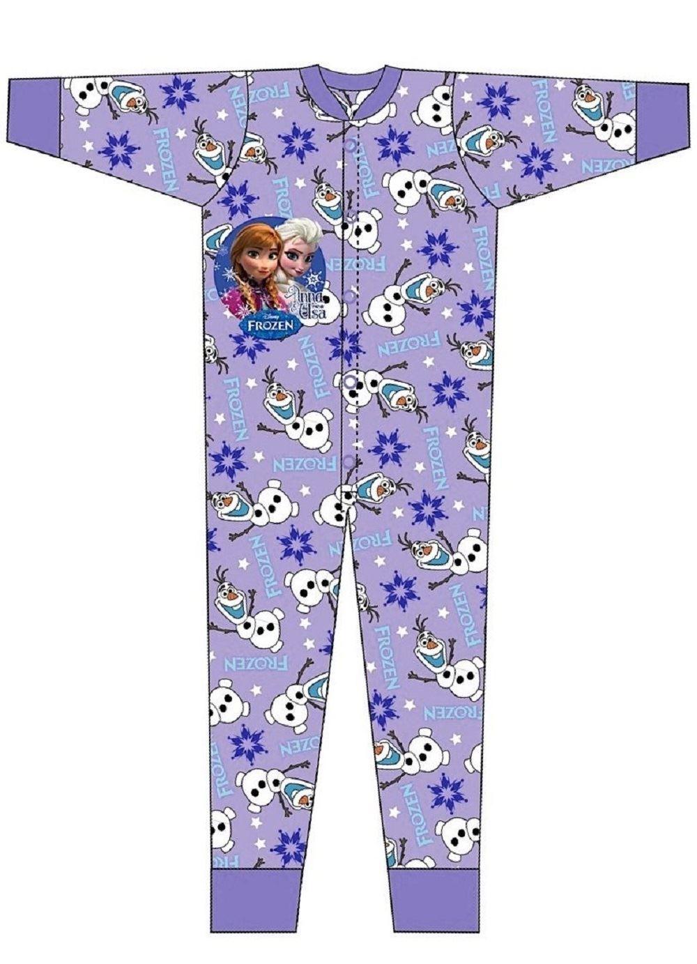 frozen girls pyjamas one piece pajama age 3 4 5 6 7 8 9 10 ebay. Black Bedroom Furniture Sets. Home Design Ideas