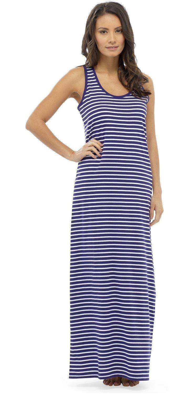 robe longue femme plage coton t shirt 10 12 14 16 18 ebay. Black Bedroom Furniture Sets. Home Design Ideas