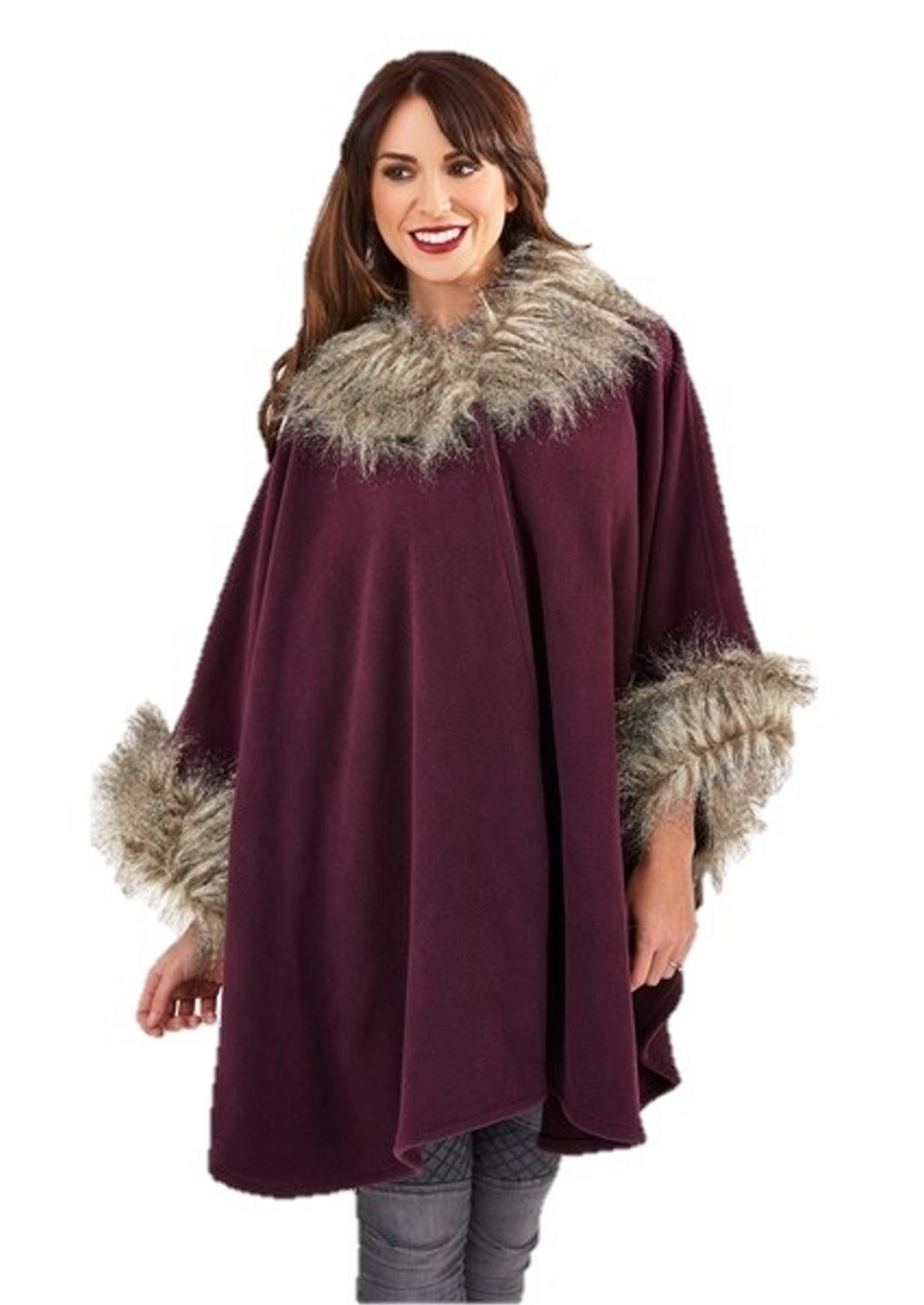 Our women's capes and ponchos are lovingly constructed of only the finest materials. We take great pride in offering a variety of women's cape styles to choose from, including everything from mink fur capes and cashmere capes to alpaca capes and rabbit fur capes.