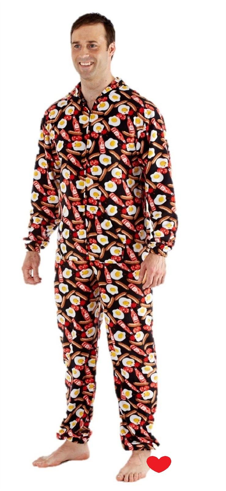 mens onesie all in one pyjama pajama one piece romper s m. Black Bedroom Furniture Sets. Home Design Ideas