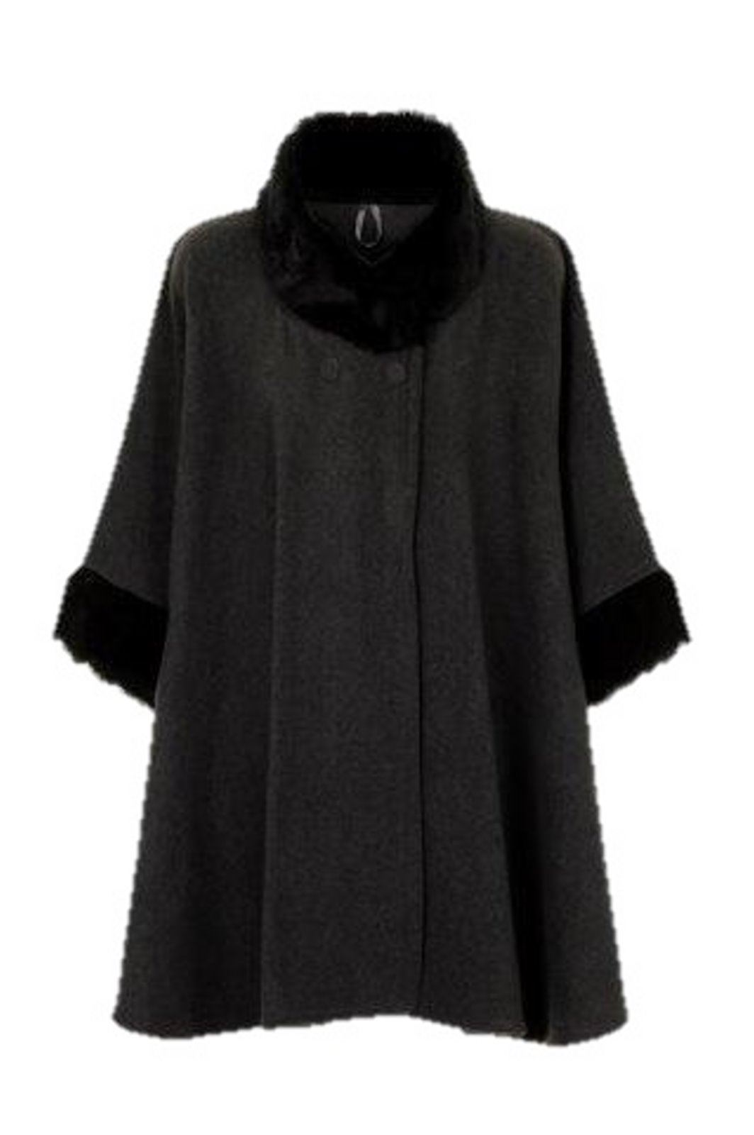damen webpelz fleece poncho cape mantel bergr e ebay. Black Bedroom Furniture Sets. Home Design Ideas