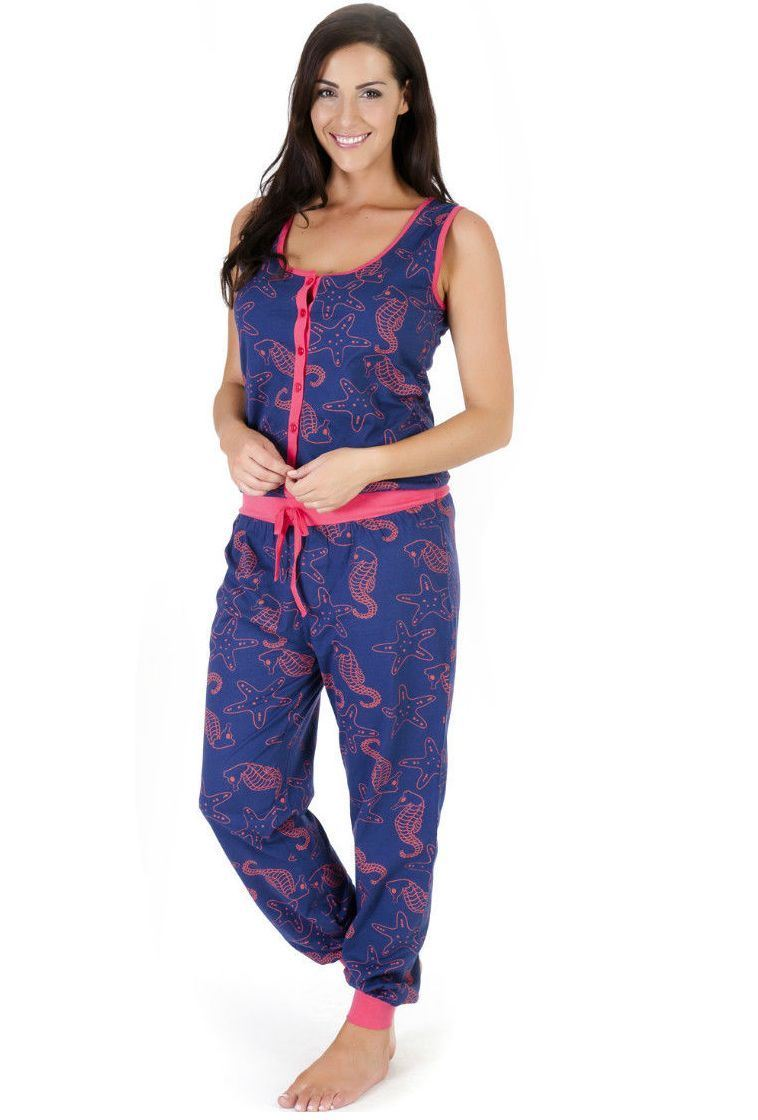 damen onesie jumpsuit playsuit pyjamas einteiler pyjama gr. Black Bedroom Furniture Sets. Home Design Ideas