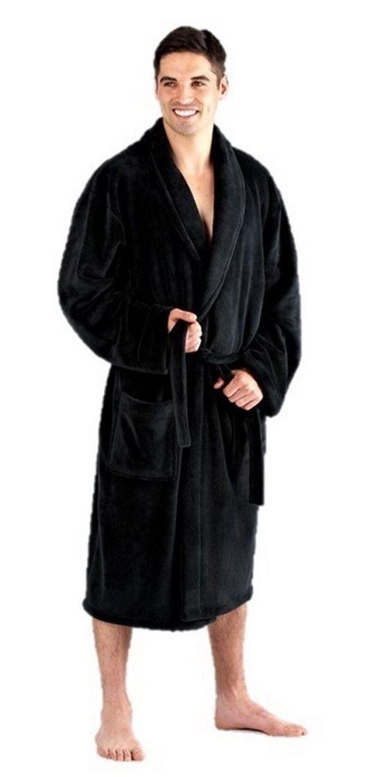 Mens Dressing Gown Bathrobe Fleece Large 3xl 4xl 5xl 6xl