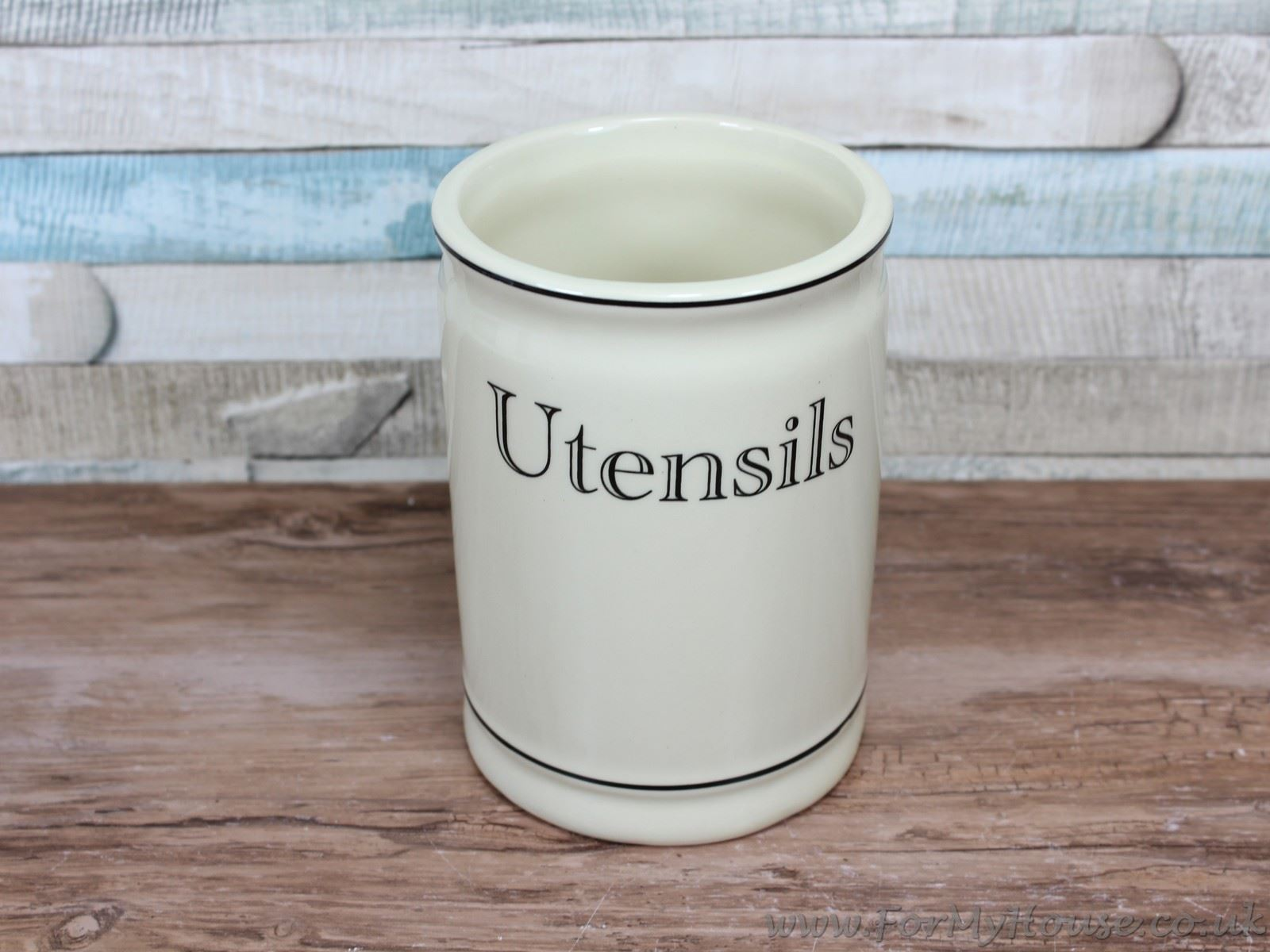cream ceramic utensils holder canister jar kitchen storage vintage kitchen canister set amp utensil holder spun