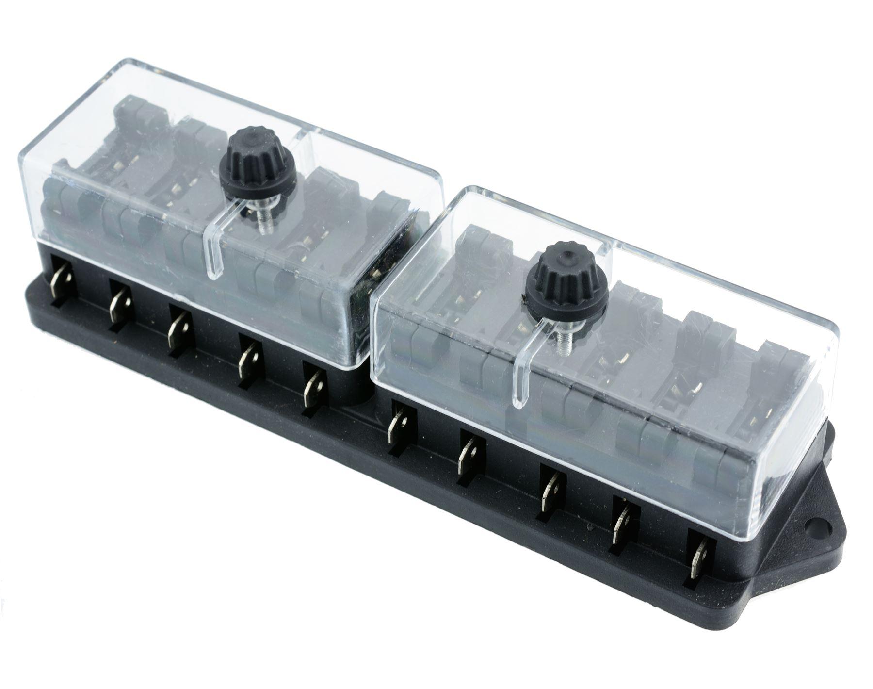 10 way automotive standard blade fuse box holder ebay. Black Bedroom Furniture Sets. Home Design Ideas