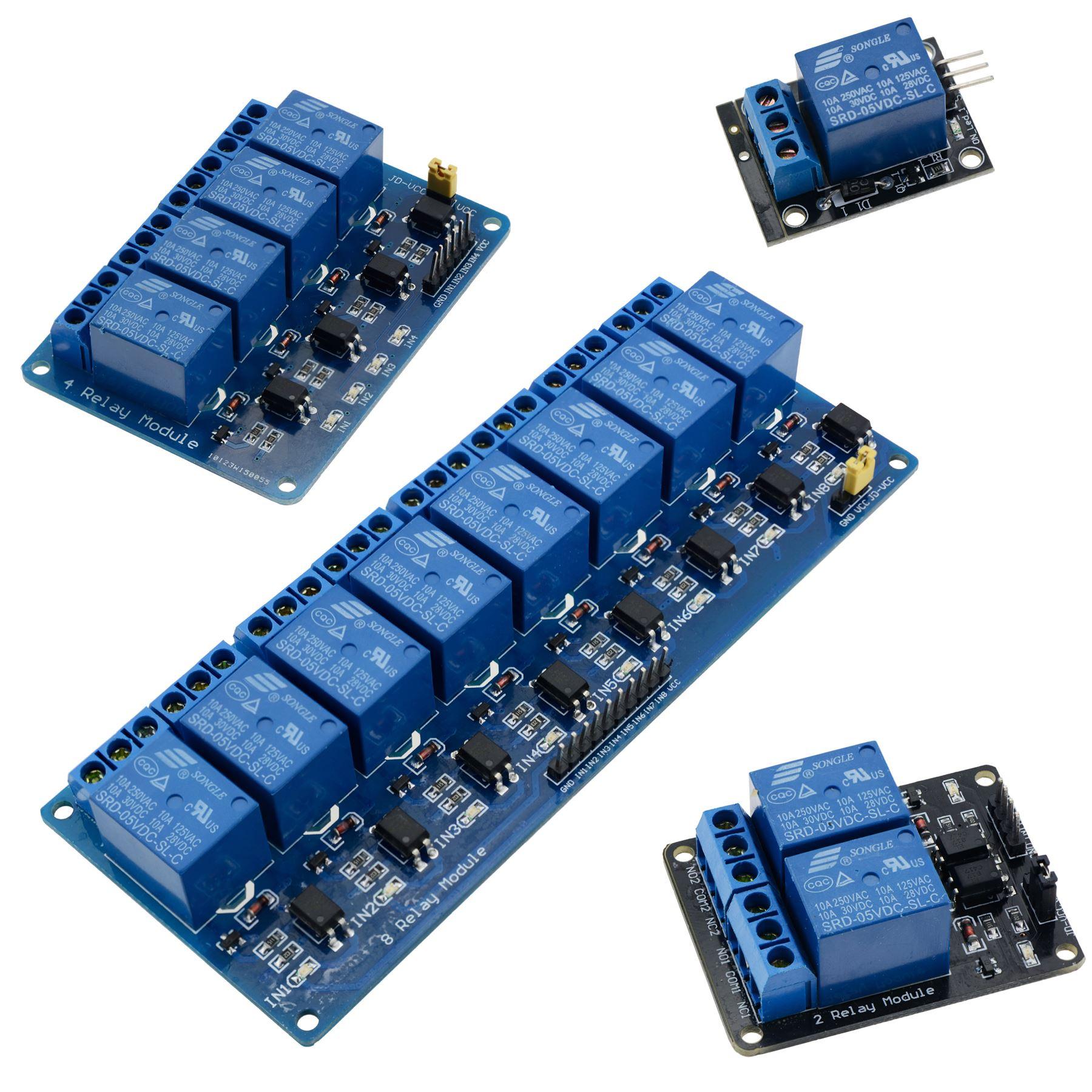 V channel relay board module for arduino