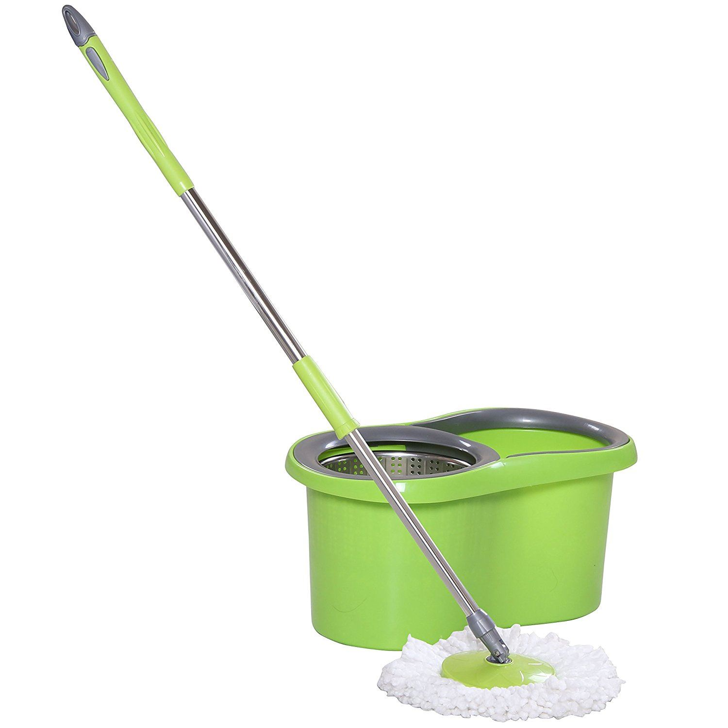 Stainless Steel Mop : ... Magic-Spin-15-Litre-Mop-Bucket-Stainless-Steel-Spinner-and-Microfiber