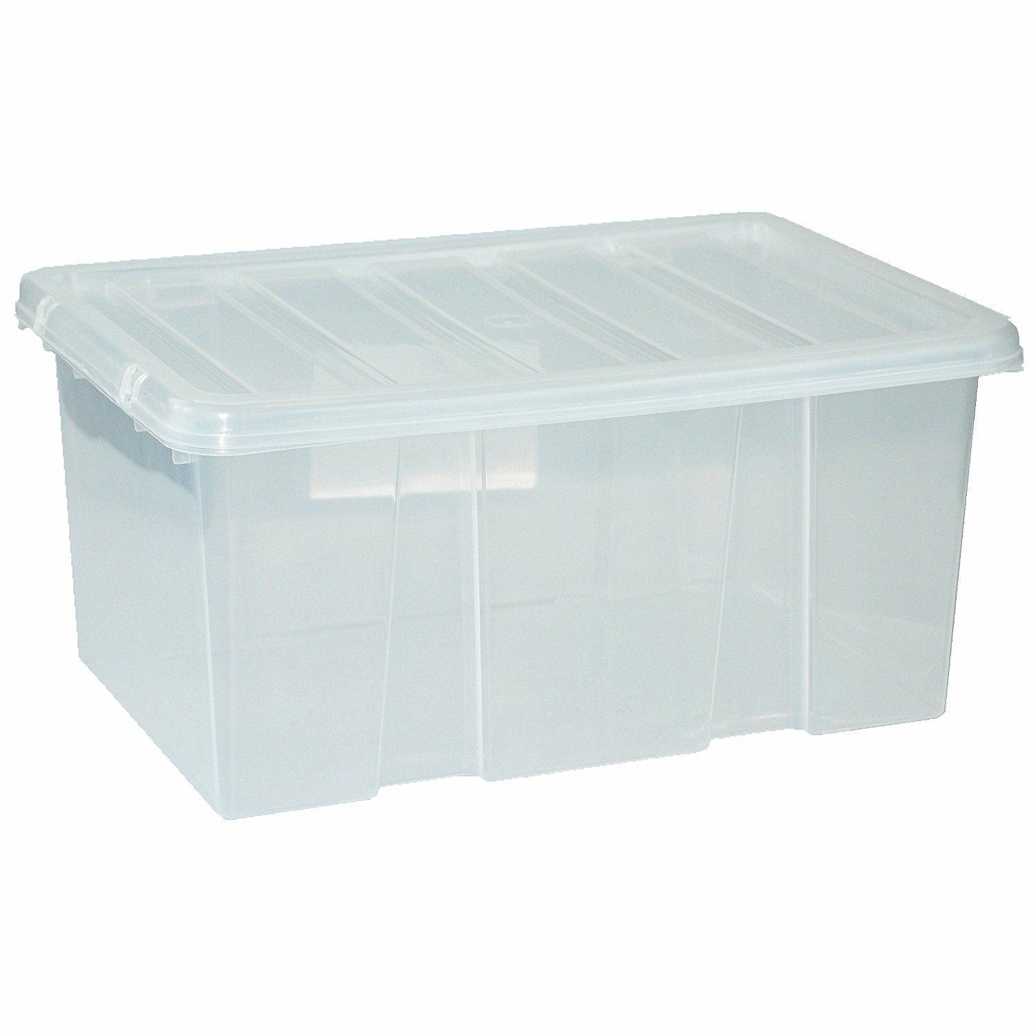 Large Plastic Storage Clear Box With Clear Lid Container