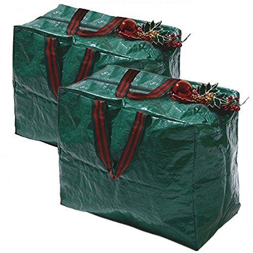 Large christmas xmas decorations storage zip bag with