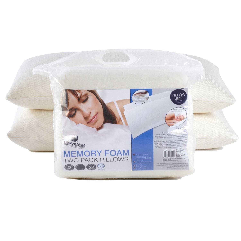 Dreamtimer memory foam pillows best quality soft for Best soft memory foam pillow