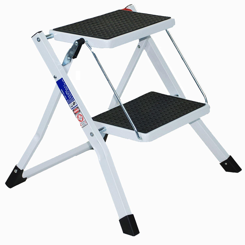 2 Step Mini Ladder Caravan Lightweight Safety Non Slip Mat