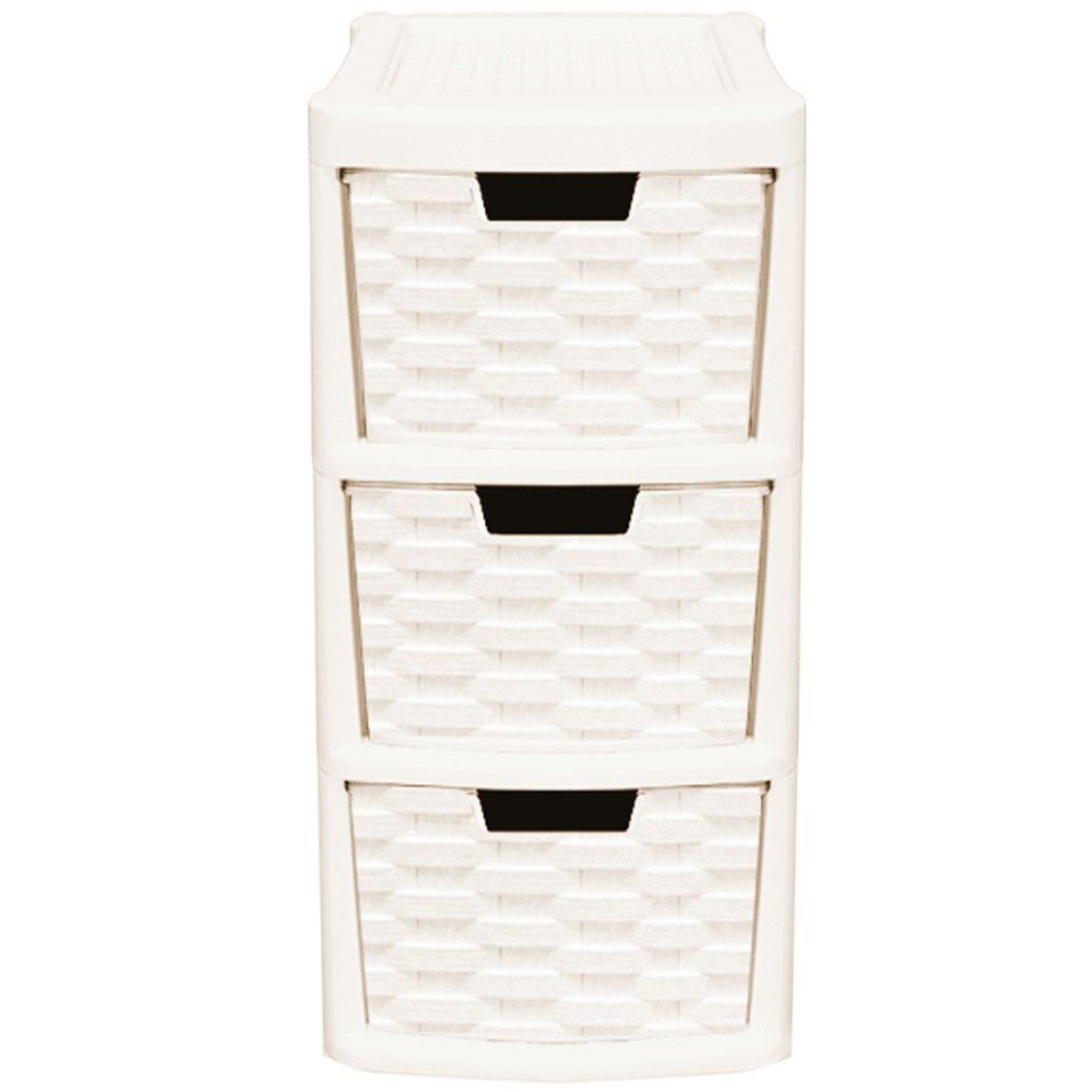 Rattan Style 2pcs Plastic 3 Drawer Amp 4 Drawer Tower