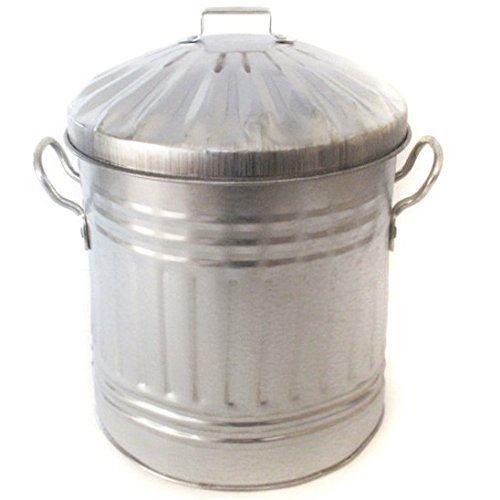 small medium large steel metal dustbin home garden kitchen. Black Bedroom Furniture Sets. Home Design Ideas