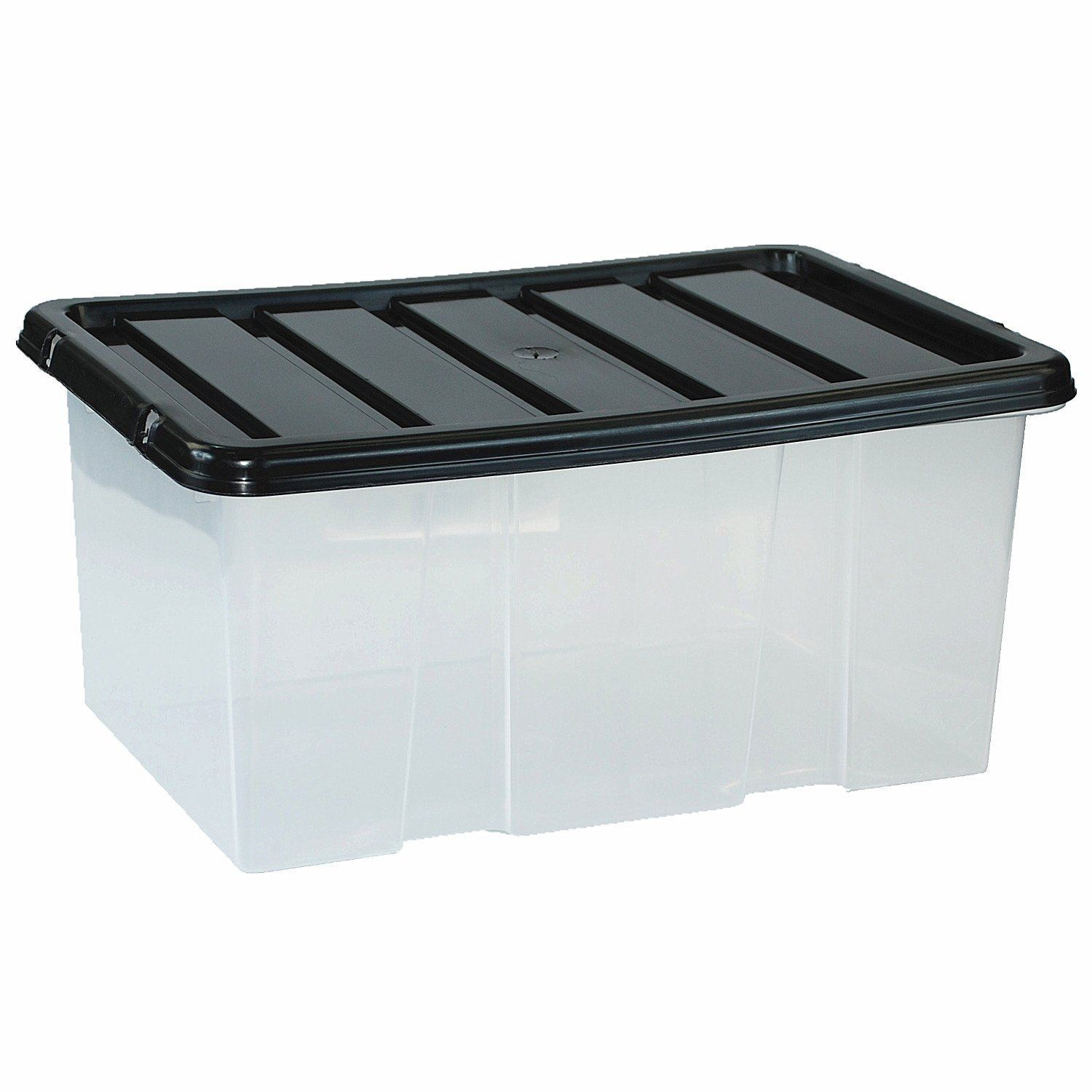 Large Plastic Storage Clear Box With Lid Container Made In