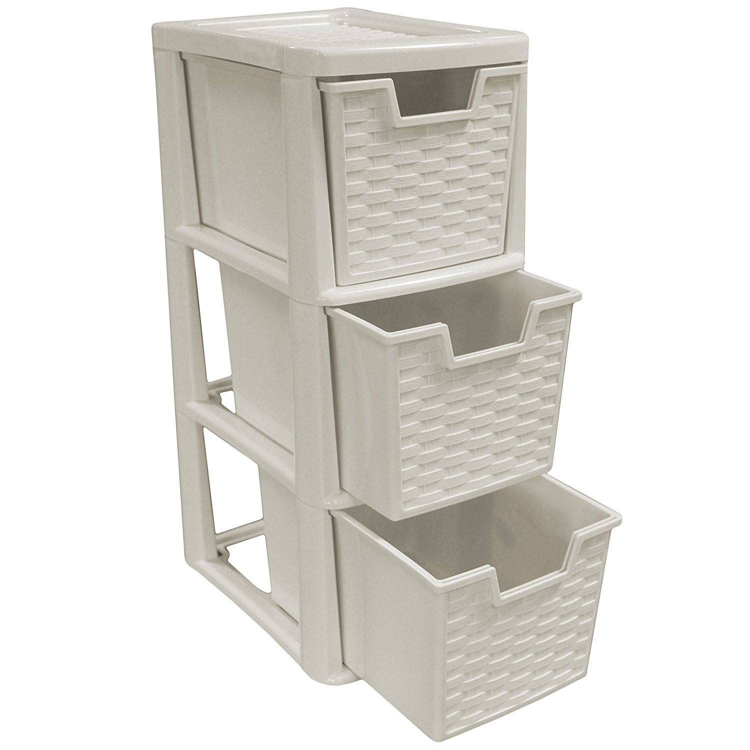 Plain Plastic Storage 3 Drawers Small Drawer Tower Unit For Decorating