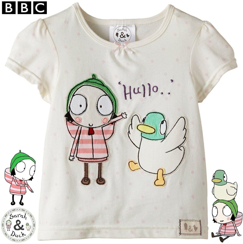 sarah amp duck174 girls hullo short sleeve tshirt 100