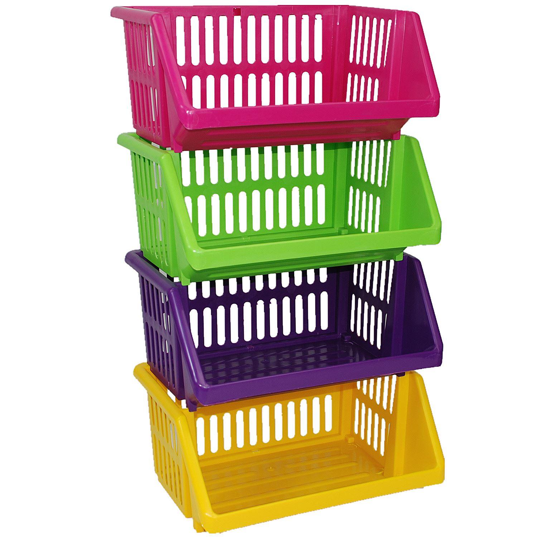 multi purpose large plastic colour storage rack stand basket made in u k ebay. Black Bedroom Furniture Sets. Home Design Ideas