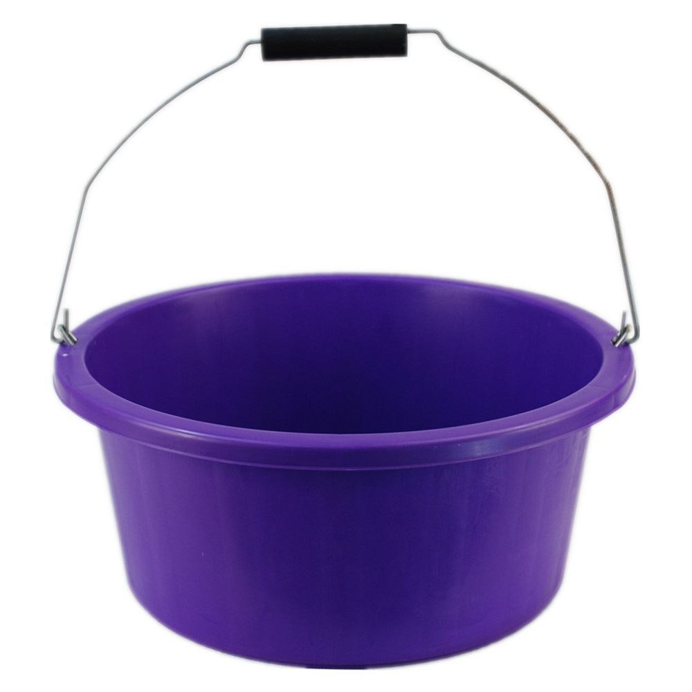 2 X Small Shallow Plastic Horse Animal Feed Bucket With
