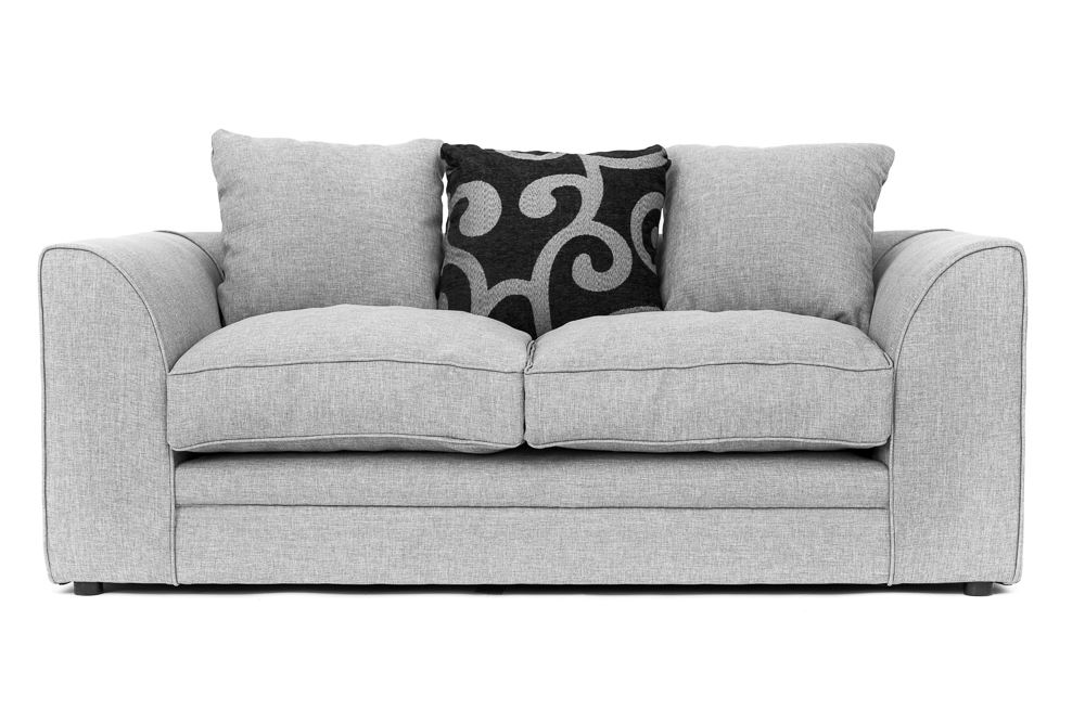 Darcy Corner Sofa in Grey Fabric with Footstool, Armchair, 2 or 3 Seater