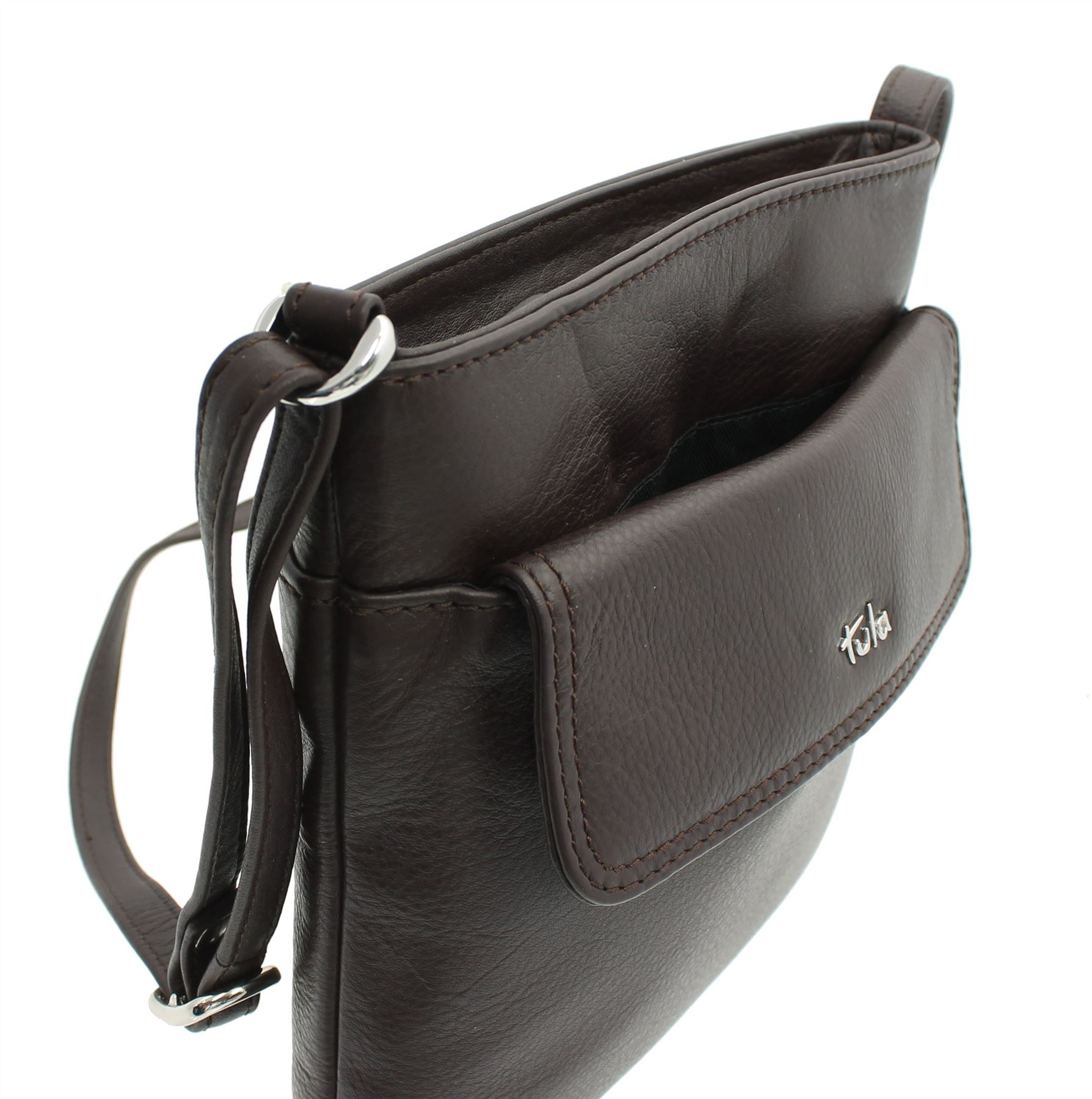 Tula Na Originals Classic Zip Top Leather Shoulder