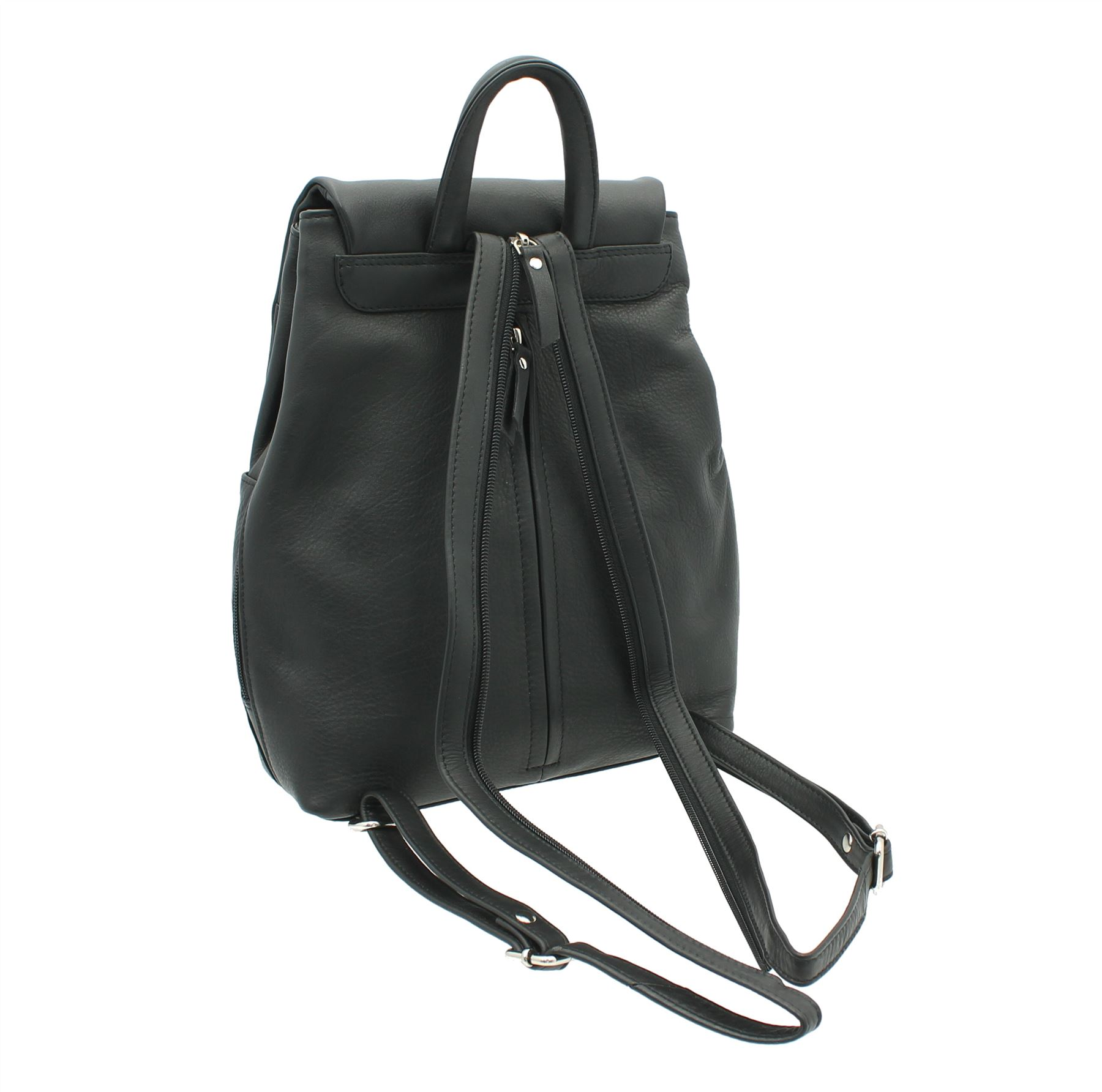 Ashlie Leather Lightweight Leather Backpack With Grab Handle ...