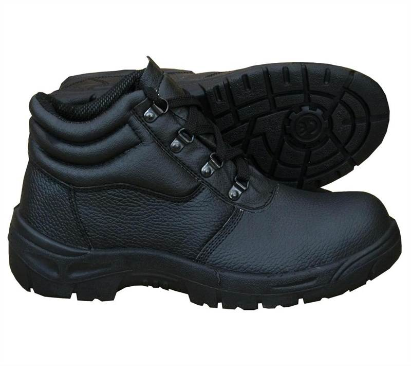 Legend Men's Chukka Work Boots Black Leather Steel Toe Cap ...
