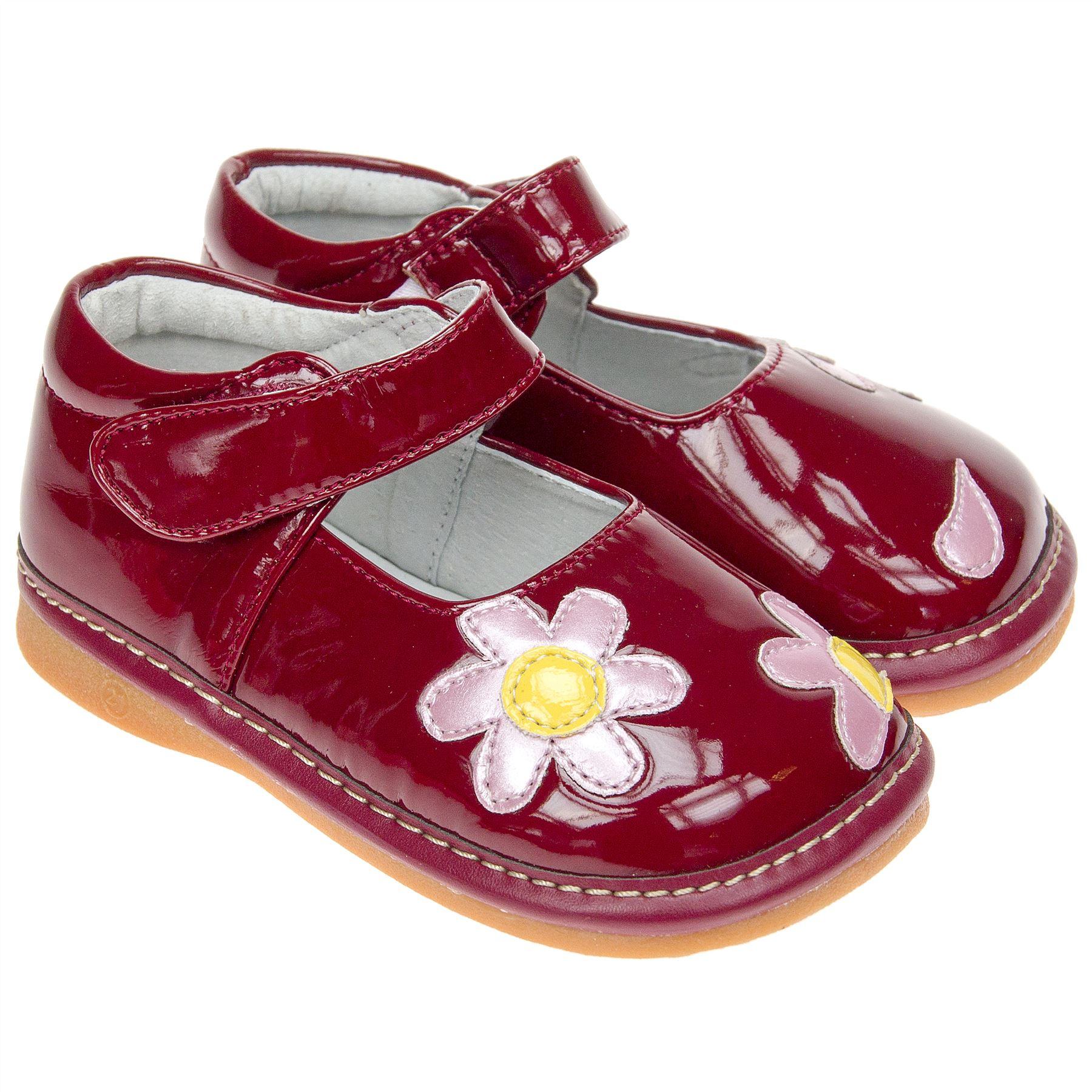 Zapatos chillones para ni a de piel sint tica de charol rojo horma ancha ebay - Charol zapateria ...