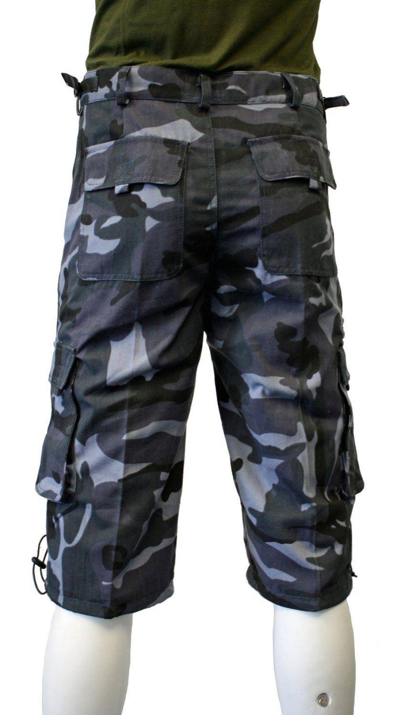 short militaire homme camouflage combat safari 30 44 ebay. Black Bedroom Furniture Sets. Home Design Ideas
