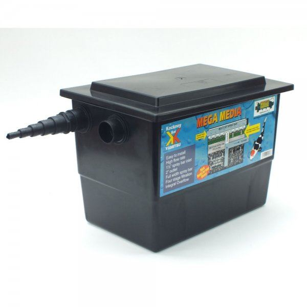 Kockney koi yamitsu mega black box pond filter pump fed for Pond pump box