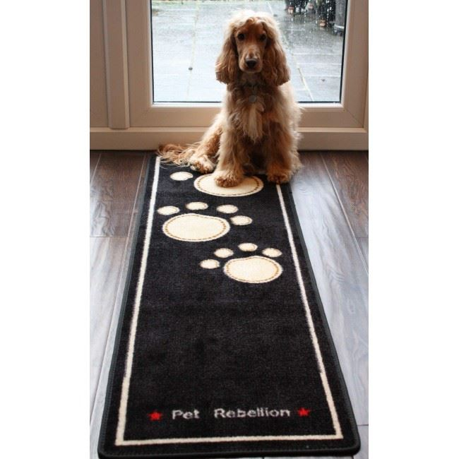Washable Sheepskin Rugs For Dogs: Pet Rebellion Cat & Dog Runner Absorbent Non Slip Washable