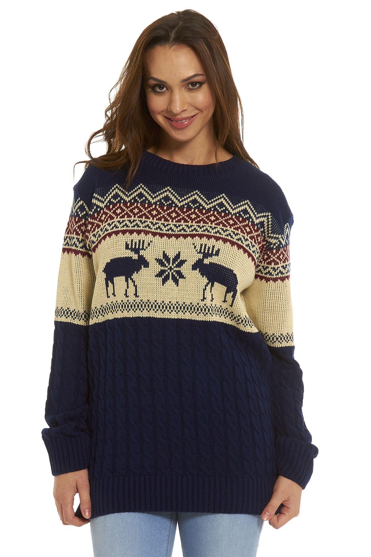 Xmas Ladies Mens Novelty Christmas Sweater Retro Vintage ...