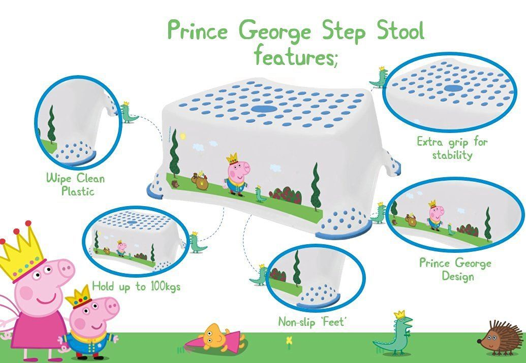 Peppa Pig Prince George Toilet Training Non Slip Step