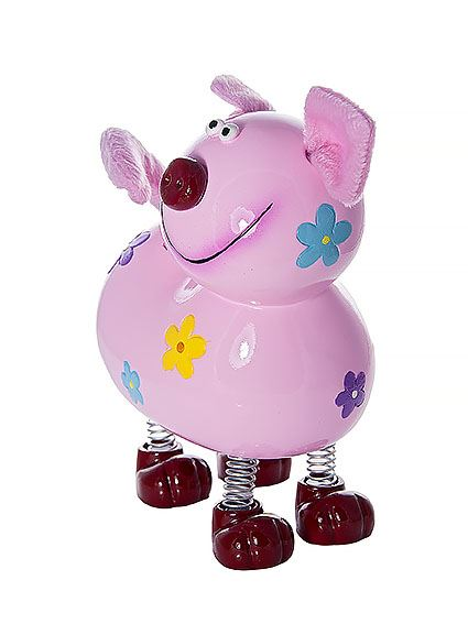 Cheeky Pink Pig Piggy Bank Coin Box Gift Kids Or Adults