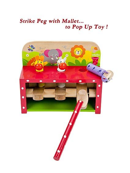 Safari Toys For Boys : Wooden safari pop up toy hammer and pegs toddler toys