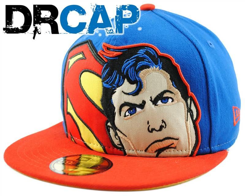 f18ce65b5c9 DC Comics Superman Hero HCL Blue   Red   Yellow New Era Cap 59Fifty ...