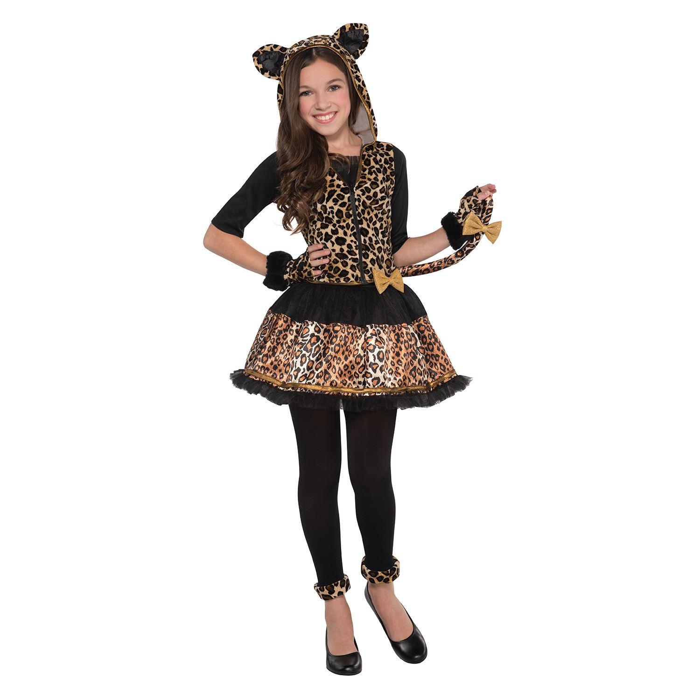 Girls Cute Sassy Spots Leopard Animal Fancy Dress Costume