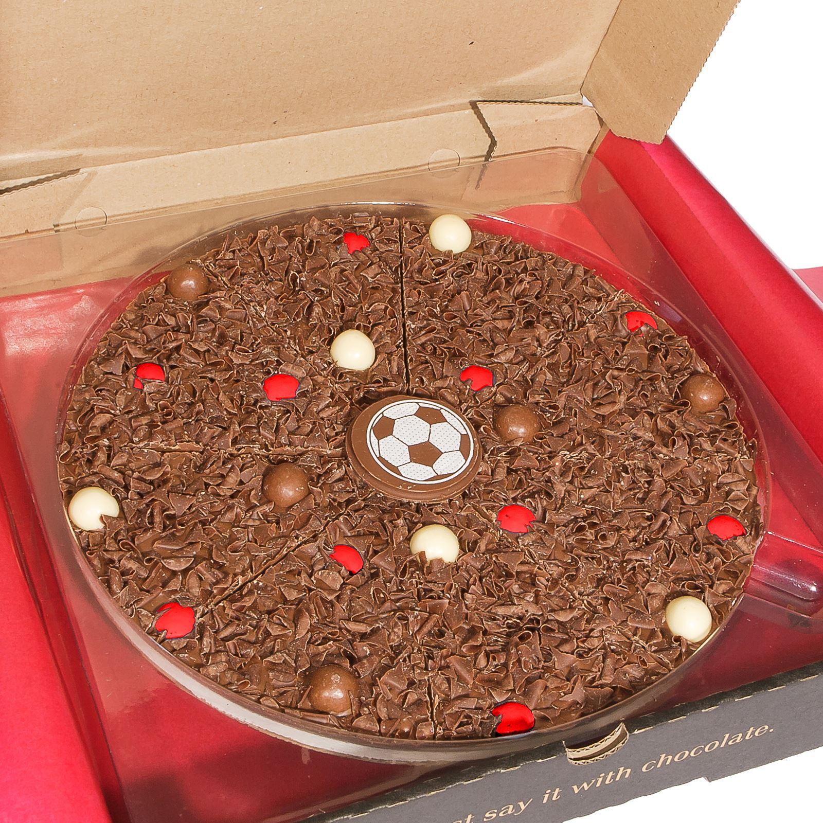 25.4cm Inch Gourmet Chocolate Pizza Belgian Milk Choc Gift