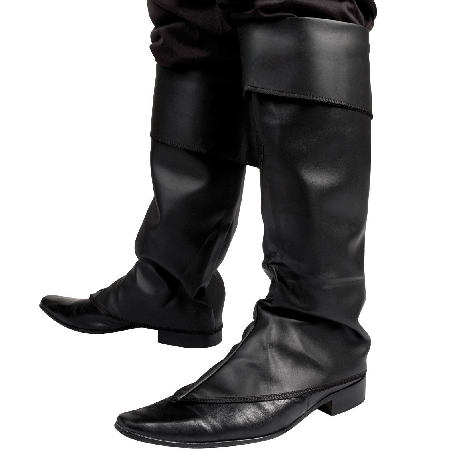 mens black boot top covers pan