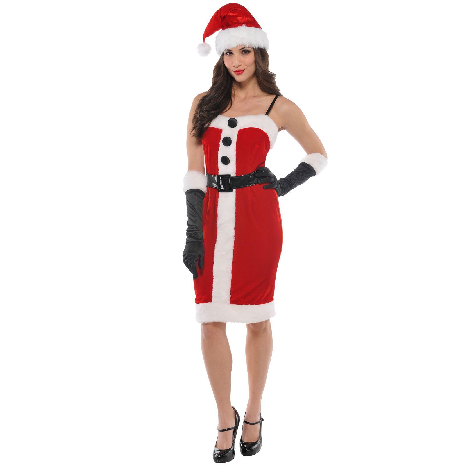 miss sexy santa ladies christmas xmas womens mrs fancy