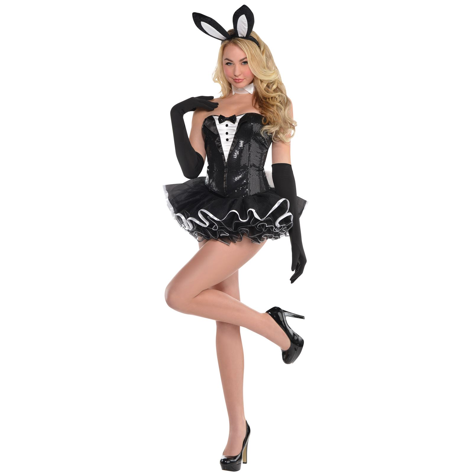 sexy bunny rabbit costume tuxedo tutu hen bedroom hostess