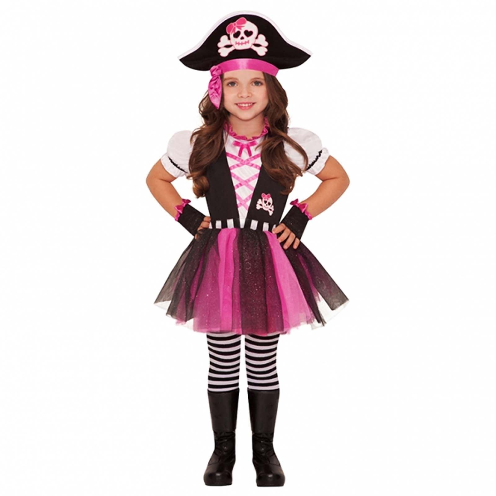 Child Pink Pirate Girl Outfit Fancy Dress Costume Book