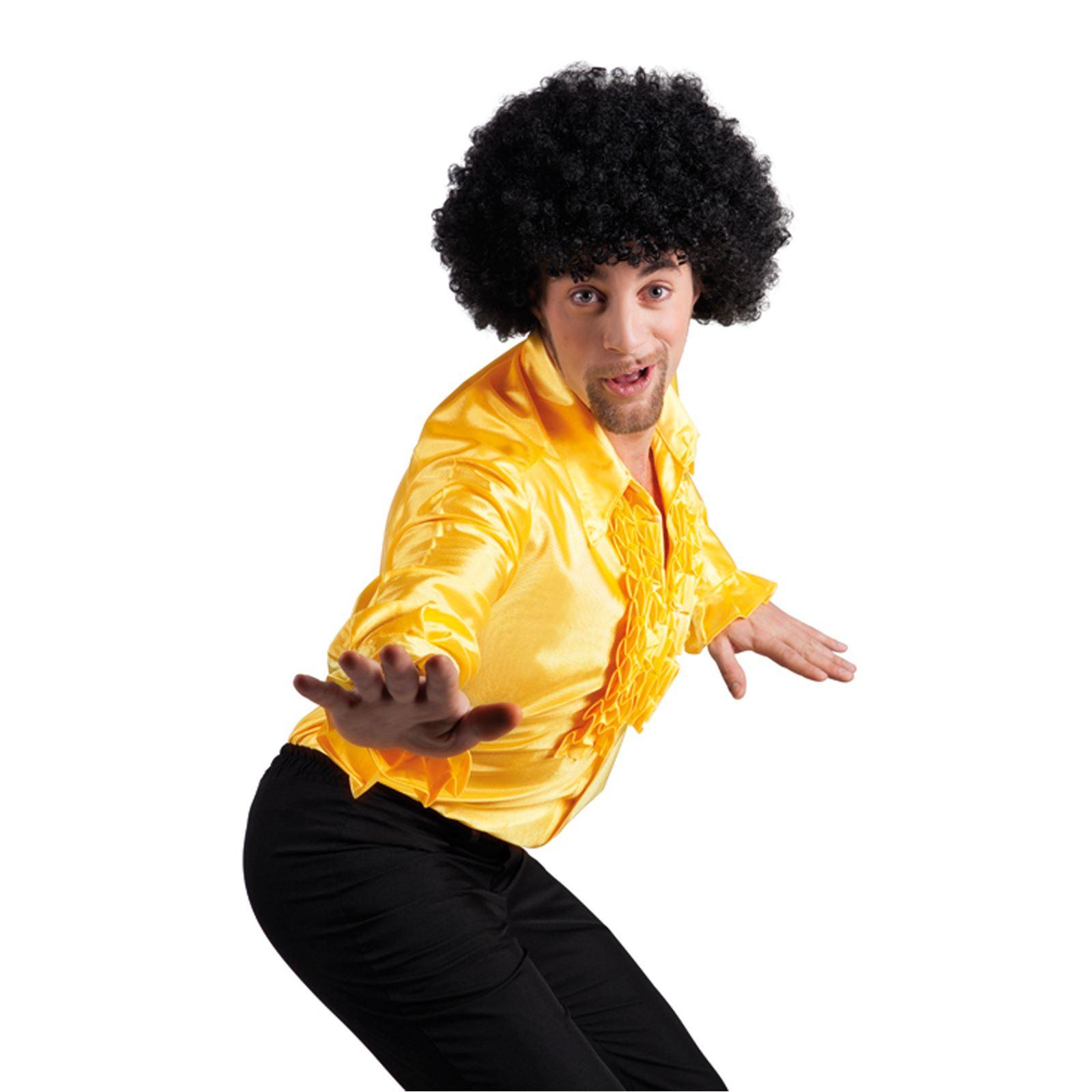 Mens-Disco-Night-Party-Ruffle-Shirt-Fever-Fancy-  sc 1 st  eBay & Mens Disco Night Party Ruffle Shirt Fever Fancy Dress Costume ...