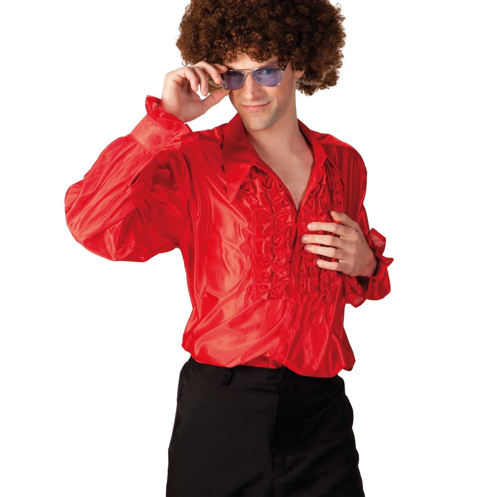 Mens Disco Night Party Ruffle Shirt Fever Fancy Dress ...